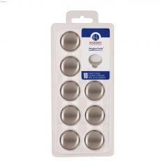 "1-1/4"" Satin Nickel Visual Packs Cabinet Knob-10/Pack"