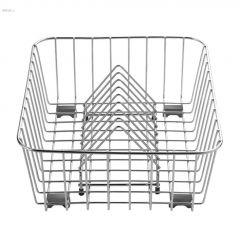 "16"" x 12-1/16"" x 5-1/2"" Stainless Steel Crockery Basket"