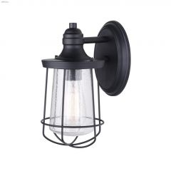 Leon (1) Lamp A 60 Watt Black Outdoor Light