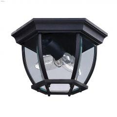 Foyer Black Flushmount Outdoor Light