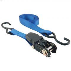 "6' x 1"" Blue Ratchet Strap-2/Pack"