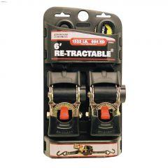 "6' x 2"" Black Ratchet Tie-Down Strap-2/Pack"