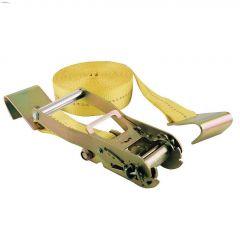 "30' x 2"" Yellow Ratchet Strap With Flat Hooks"