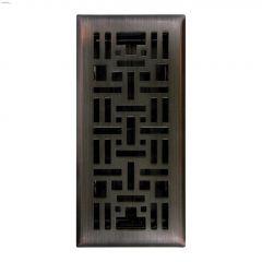 """4"""" x 10"""" Oil Rubbed Bronze Arts & Craft Floor Register"""