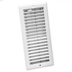"""4"""" x 10"""" White Louvered Design Ceiling Register"""