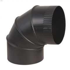 "7"" Black Matte Single Wall Adjustable Elbow"