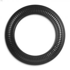 "8"" Black Matte Single Wall Trim Collar"