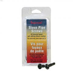 Black Socket Head Stove Pipe Screw-12/Pack
