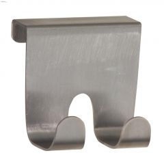 Brushed Stainless Steel Forma Over-Cabinet Double Hook