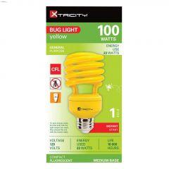 Yellow 23 Watt Medium T2 Compact Fluorescent Bulb