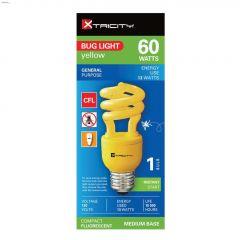 Yellow 13 Watt Medium T2 Compact Fluorescent Bulb