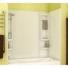"61"" x 33-1/2"" x 59"" White Finesse Tub Wall Kit"
