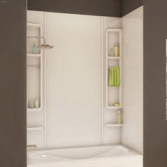"61"" x 33-1/2"" x 80"" White Finesse Tub Wall Kit"