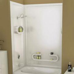 "61-1/4"" x 32"" x 50"" White Parisienne Tub Wall Kit"