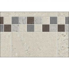 "48"" x 1-1/8"" x 80"" Stone Sahara Utile Side Wall Panel"
