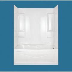 "27 - 31"" x 49 - 60"" x 58"" High Gloss White Vantage Wall Kit"