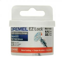 "EZ-Lock 1-1/2"" 1/8"" Red Cut-Off Wheel-12/Pack"