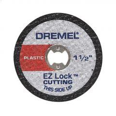 """EZ-Lock 1-1/2"""" 0.045"""" Medium Red Cut-Off Wheel-5/Pack"""