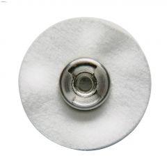 "EZ-Lock 1"" Metal Yellow Cloth Polishing Wheel"