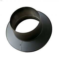 "6"" x 5-5/8"" Black Painted Twist-Lock Stove Pipe Adapter"