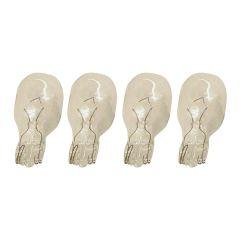 Clear 4 Watt Wedge T5 Halogen Bulb-4/Pack