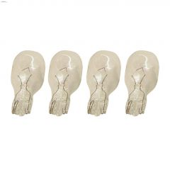 Clear 7 Watt Wedge T5 Halogen Bulb-4/Pack