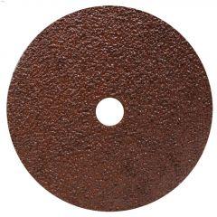 """7"""" 24 Grit Resin Bonded Fiber Sanding Disc-Bulk"""