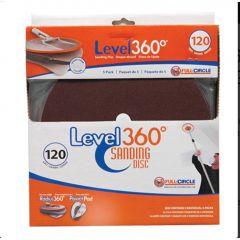 80 Grit Radius 360 Sanding Disc-5/Pack