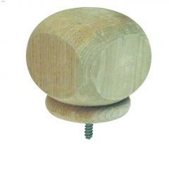 "4"" Pine Pressure Treated Algonquin Ball Top Post Cap"