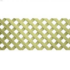 1' x 8' Pressure Treated Wood Privacy Lattice