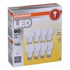 8.5 Watt E26 Medium A19 LED Bulb-8/Pack