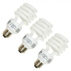 13 Watt Medium Screw Spiral CFL Bulb-12/Pack