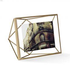 "6"" x 8"" x 3"" Metal Frame Matte Brass Photo Frame"