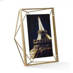 "7"" x 9"" x 3"" Metal Frame Matte Brass Photo Frame"