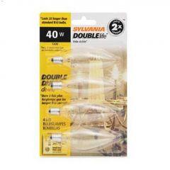 Clear 40 Watt Candelabra B10 Incandescent Bulb-4/Pack
