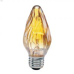 Amber 40 W Candelabra F15 Flame Tip Incandescent Bulb-2/PK
