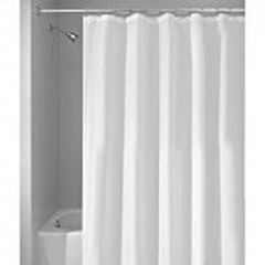 """108"""" x 72"""" White Fabric Shower Curtain Liner"""