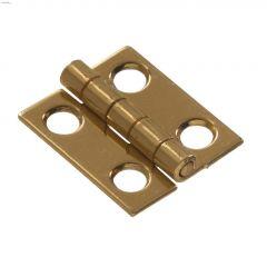"1"" x 3/4"" Bright Brass Solid Brass Narrow Hinge-4/Pack"