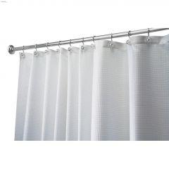 """54"""" x 78"""" White Fabric Carlton Shower Curtain"""