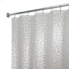 "72"" x 72"" Frost/White EVA Pebblz Ecopreme Shower Curtain"