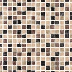 "20-1/2"" x 33' Harbor Brown Sea Glass Tiles Wallpaper"