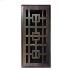 """4\"""" x 10\"""" Oriental Design Floor Register"""