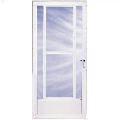 """National 3 Lite Midview 34"""" x 80"""" White Storm Door"""