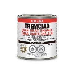 Tremclad 237 mL Can Flat Black High Heat Enamel