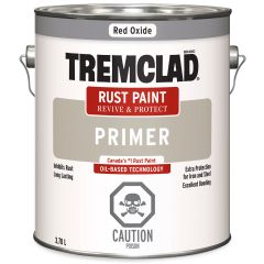 Tremclad 3.78 L Can Flat Red Oxide Rust Primer