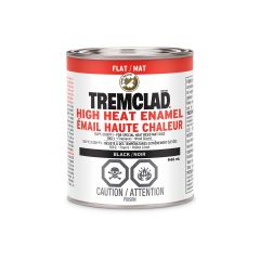 Tremclad 946 mL Can Flat Black High Heat Enamel