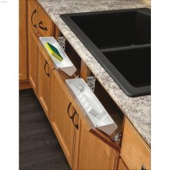 """14-1/4"""" White Polymer Tip-Out Tray Set"""