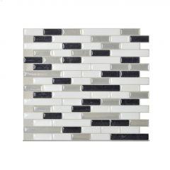 """10.2"""" x 9.1"""" Muretto Alaska Mosaic Wall Tile-6/Pack"""