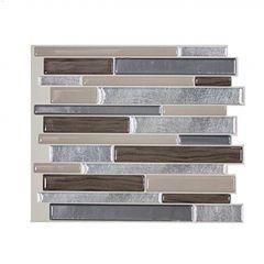 """11.55"""" x 9.63"""" Milano Lino Mosaic Wall Tile-6/Pack"""
