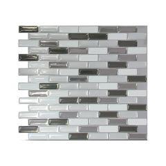 """10.2"""" x 9.1"""" Murano Metallik Mosaic Wall Tile-6/Pack"""